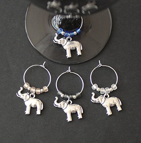 Elephant Wine Charms-Set of 4