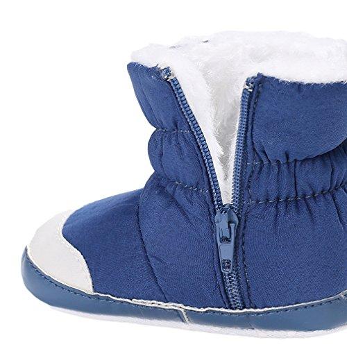 Chaussure Antidérapant Bébé Souple Chaussons Bleu Imperméable Eozy Chaud Infantile Boots 7ORqwRUg