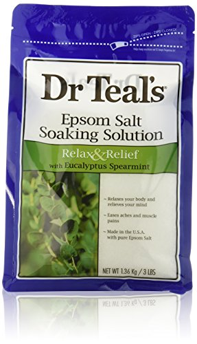 Dr. Teal's Epsom Salt Soaking Solution with Eucalyptus Spearmint, 48 Ounce