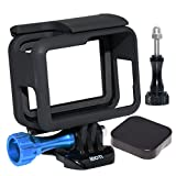 SIOTI Frame Mount Protective Housing with Lens Cap Cover and Aluminum Alloy Screw for GoPro Hero 5 Cameras