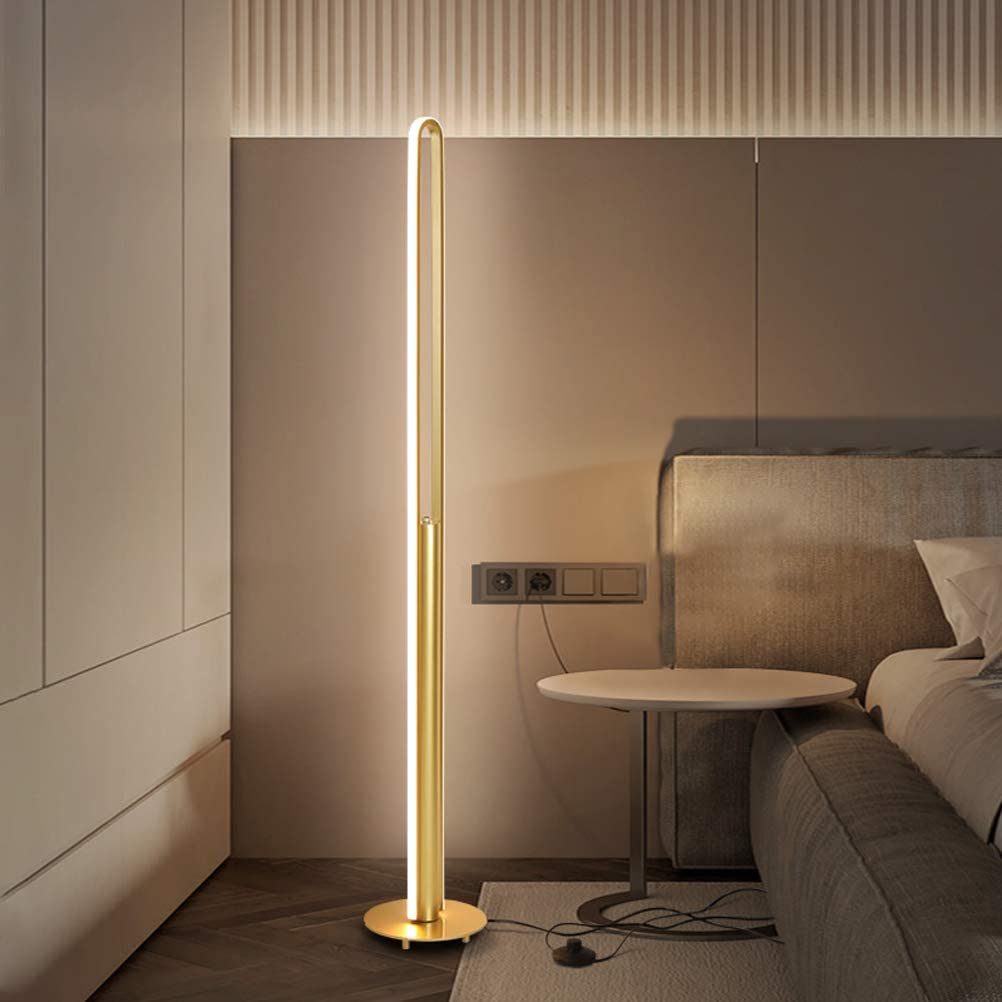 ACHNC LED L/ámpara de Pie Salon RGB Regulable Con Control Remoto Luz Ambiental Vistoso,110cm Moderna Luz de Esquina Dormitorio L/ámpara de Lectura Para Oficina,Estudio,Restaurante,Habitaci/ón de Ni/ños