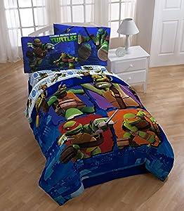 Nickelodeon Teenage Mutant Ninja Turtles City Limits Full Reversible Comforter 5pc Set
