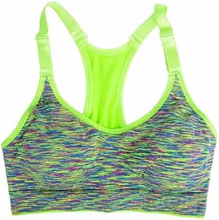 LinkShowWomen LinkShow Women Zip Net Yarn Running Yoga Tank Top Shirt Cozy Running Bra
