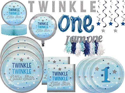 Boys 1st Birthday Twinkle Twinkle Little Star Tableware