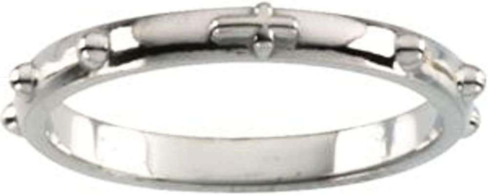Size 7 Bonyak Jewelry Sterling Silver Rosary Ring