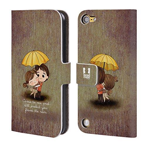 Head Case Designs Protect You From The Rain La Luce Dellamore Cover a portafoglio in pelle per iPod Touch 5th Gen / 6th Gen
