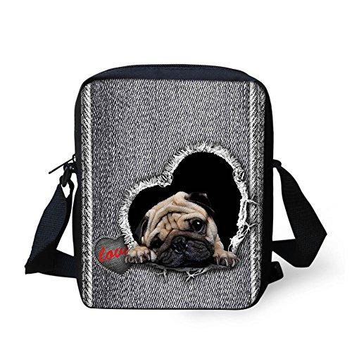 Mini CHAQLIN Shoulder w Bag Cross Strap Body pug Adjustable Messenger Small ggzwrqRx