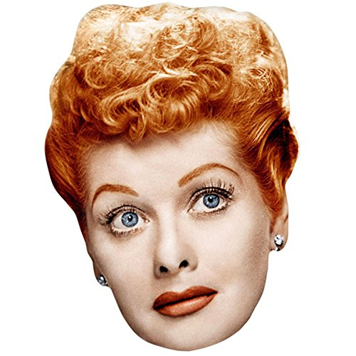 Lucille Ball Celebrity Mask, Card Face and Fancy Dress -