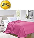 Elegant Comfort #1 Fleece Blanket on Amazon – Super Silky Soft – SALE – All Season Super Plush Luxury FLEECE BLANKET Full/Queen Pink