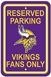 Fremont Die NFL Minnesota Vikings Reserved Parking Sign