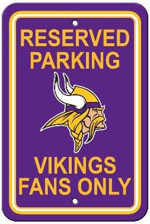 Sign Parking Vikings Minnesota (NFL Minnesota Vikings Reserved Parking Sign)