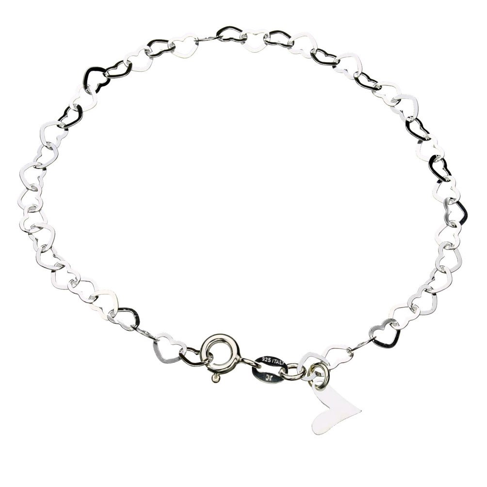 anklet silver gold v sterling over p inch chain mariner ladies