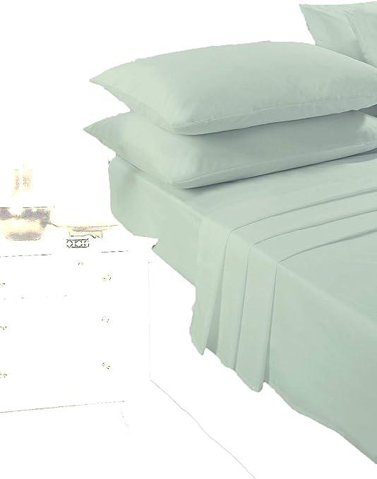 Juego de sábanas de lujo, algodón poliéster (sábana bajera, sábana ...