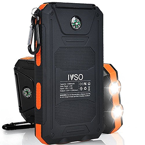 iBetter Solar 11000mAh - robuste Powerbank - orange
