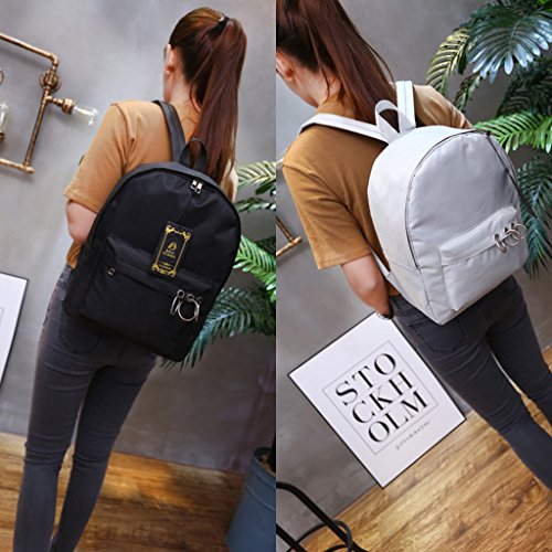 Student Girls School Backpacks Gray Dabixx Backpack Black Classic Women Canvs xYf7S