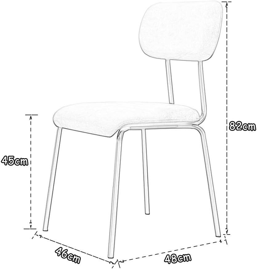 PU Leder esszimmerstuhl Zähler Lounge Wohnzimmer Gepolsterte Sitzecke Lässiger Empfangsstuhl Gepolstert Rückenlehne & Gold Metal 4 Beine (6 Farbe) Green