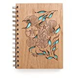 Tidepools Laser Cut Wood Journal (Notebook / Birthday Gift / Gratitude Journal / Handmade)