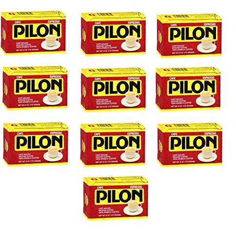 Cafe Pilon 10 PACK Cuban Espresso Ground Coffee 10 x 6 oz