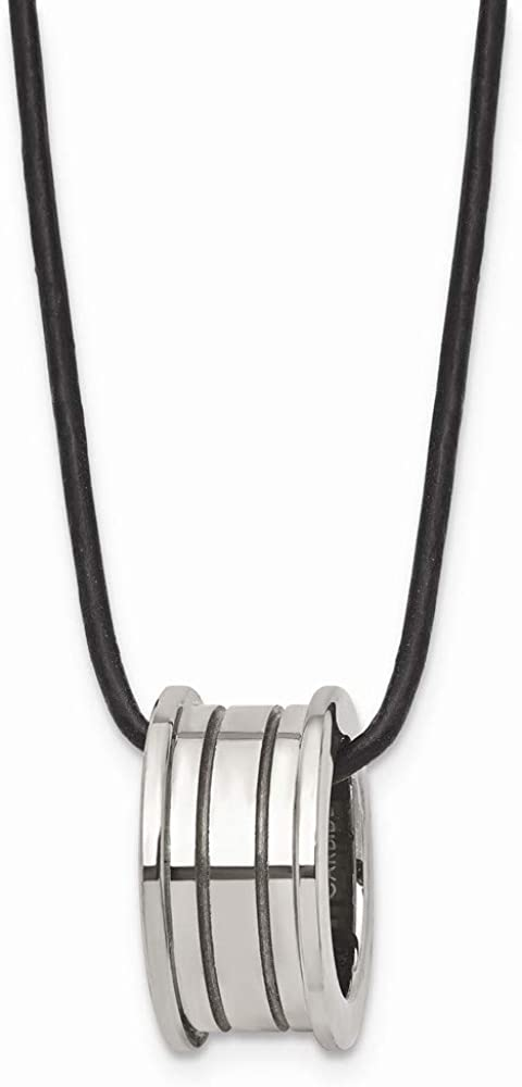925 Sterling Silver 18 Inch Black Link Cord Chain Necklace Pendant Charm Leather Fine Jewelry For Women Gifts For Her