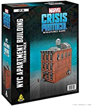 Marvel Crisis Protocol NYC Apartment Building Terrain Expansion | Marvel Miniatures Strategy Game for Teens an