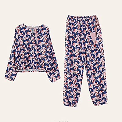 Joycaling Pijamas de Las Señoras Traje clásico de algodón Pijamas ...
