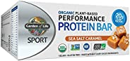 Garden of Life Sport Protein Bars, Organic Plant Based High Protein Bars - Sea Salt Caramel, 20g Pure Protein