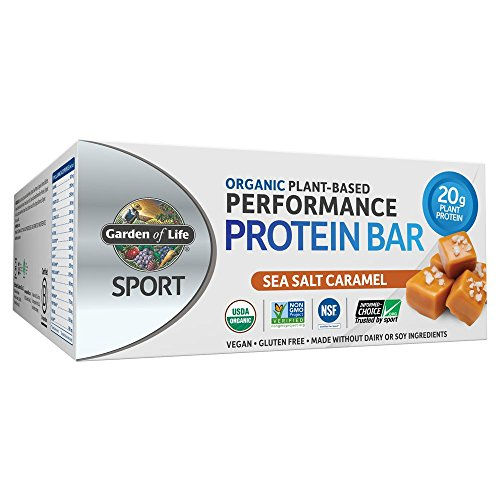 Garden of Life Organic Sport Protein Bar, Vegan, Sea Salt Caramel, 12 Count