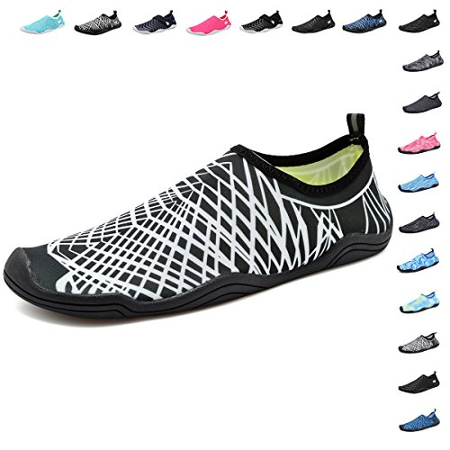 Men with Water Drainage Fanture Yoga Beach 18 Shoes for Quick Swim White01 Wading Aqua Drainage Womens Sports Holes Dry Walking AwE18EqCd