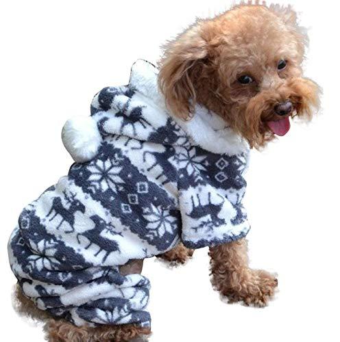 Duseedik Pet Hoodie Coat, Fashion Pet Dog Warm Clothes Fleece Puppy Jumpsuit Doggy -