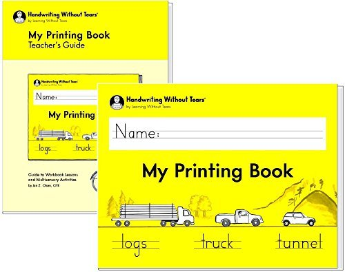 Handwriting Without Tears My Printing Book - Grade 1 with teacher's guide