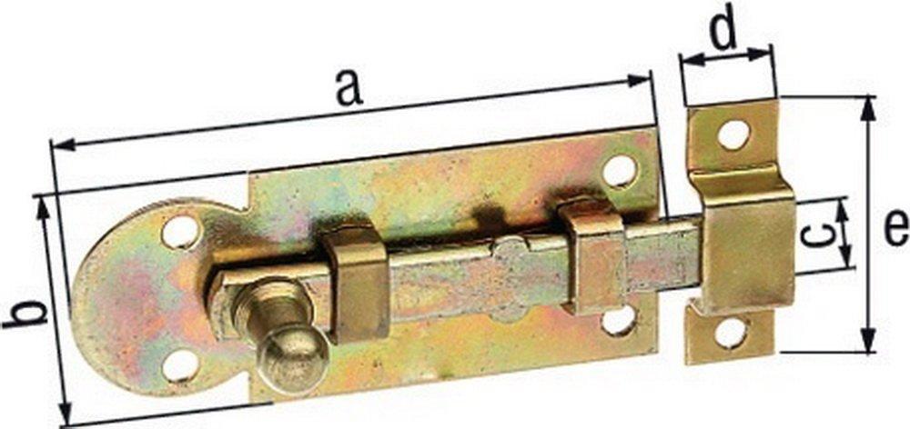 GAH.ALBERTS Fensterriegel mit Schlaufe 60 mm montiert, verzinkt, 11300 1