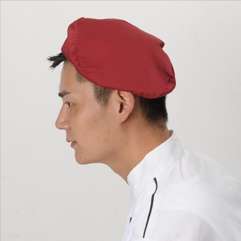 Chef Beret Kitchen Cooking Practical Catering Work Unisex Adult Printing Chef Hat Beret Party Hat Mens Driver Chef Cap,Black