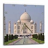 3dRose Cities Of The World - Taj Mahal In Delhi, India - 10x10 Wall Clock (dpp_268675_1)