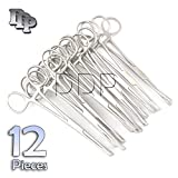DDP SET OF 12 PENNINGTON FORCEPS SLOTTED 6'' STAINLESS STEEL PROFESSIONAL BODY PIERCING TOOL
