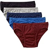 Life by Jockey Mens 100% Cotton Bikini Underwear (5 Pack), Assorted Colors (Large (36 - 38 Waist))