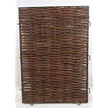 """Woven Willow Hurdle Panel Gate, iron rod framed. 34""""W"""