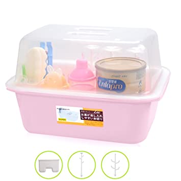 Amazoncom OLizee Baby Bottle Drying Racks with Anti dust Cover