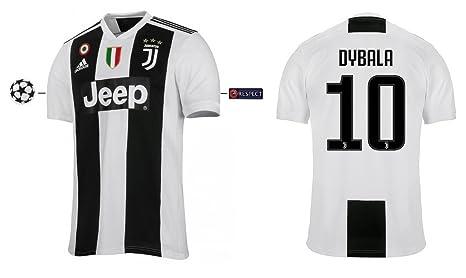 Juventus 2018-2019 Home UCL Dybala 10 - Camiseta de Manga Corta ...