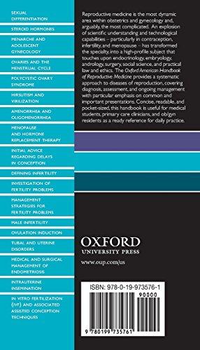 Oxford American Handbook of Reproductive Medicine (Oxford American Handbooks of Medicine)