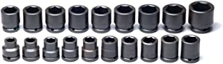 "product image for Wright Tool 655 3/4"" Drive 6 Point Standard Metric Impact Socket Set (19-Piece)"