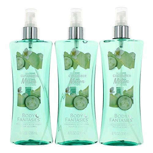 Melon Cucumber Body Splash - Cucumber Melon Fantasy by Body Fantasies 3 Pack of 8 Fragrance Body Spray women