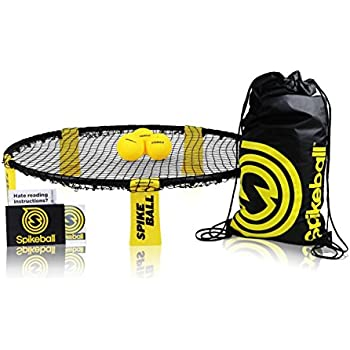 Spikeball 3 Ball Game Set - Outdoor Indoor Gift for Teens, Family - Yard, Lawn, Beach, Tailgate - Includes Playing Net, 3 Balls, Drawstring Bag, Rule Book- As Seen on Shark Tank (3 Ball Set)
