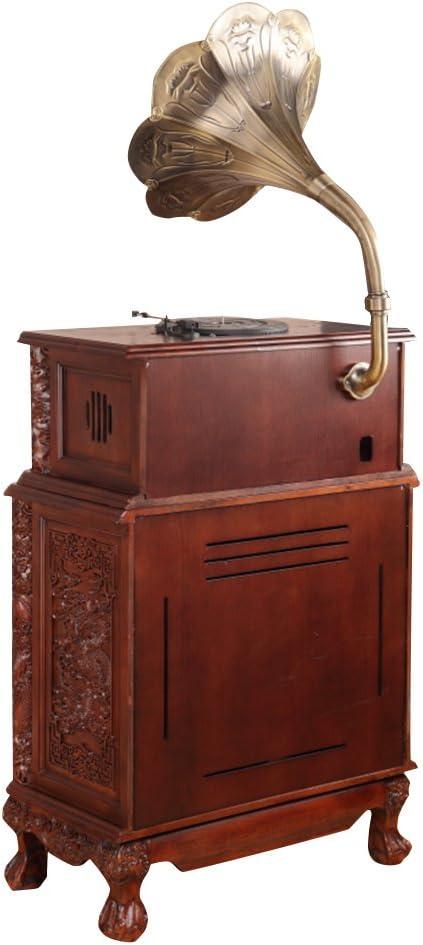 Sitang Gramófono antiguo retro gran cuerno lp gramófono tocadiscos ...