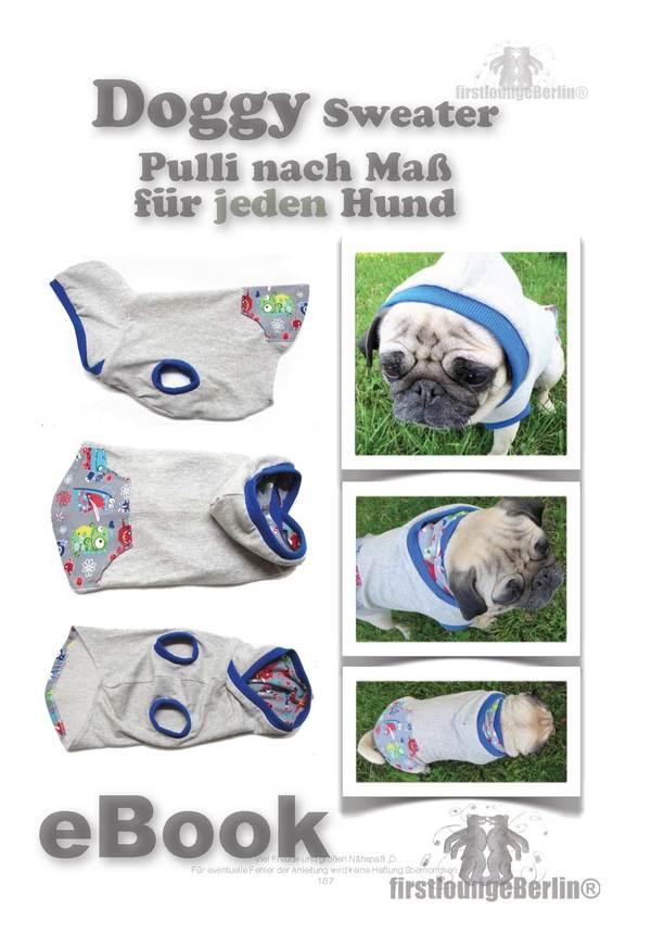 Doggy Hunde-Sweater nach Maß - PDF- Nähanleitung & Schnittmuster ...