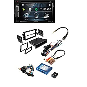 BUICK CHEVROLET GMC HUMMER PONTIAC SATURN SUZUKI ( SELECT MODELS ) CAR STEREO INSTALL KIT DOUBLE DIN DASH KIT + RADIO REPLACEMENT INTERFACE W/ KENWOOD DDX24BT BLUETOOTH STEREO