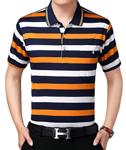 Foncaz メンズ ポロシャツ 半袖 yシャツ チェック柄 カジュアルシャツ 長袖 夏 薄手 快適 吸汗速乾 通気性 シンプル カジュアル スポーツ 全23色 ゴルフウェア
