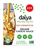 #8: Daiya Zesty Cheddar Style Cheeze Sauce :: Plant-Based Nacho Cheese Sauce and Queso Dip :: Vegan, Dairy Free, Gluten Free, Soy Free, Rich Cheesy Flavor :: Box Contains 3 Packets (2 Servings Each)