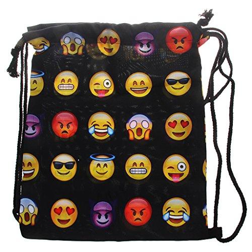Gazechimp Turnbeutel Emoticon Zunge Emoji Beuteltasche Hipster Bag Gymsack Tasche Festival