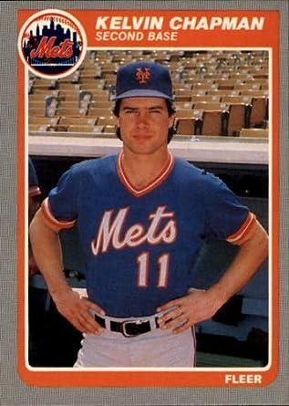Amazoncom 1985 Fleer Baseball Card 75 Kelvin Chapman Mint