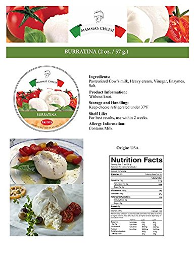 Burratina Cheese (Bocconcini) - 2 oz x 4 pieces by Mamma's Cheese (Image #2)